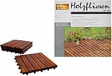Unbekannt Holzfliesen 4 Stück Akazien Holz 30x30