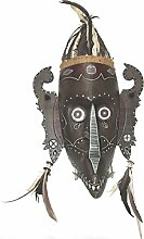 Unbekannt Holzmaske Ethno Spirit Wandmaske