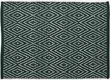 Unbekannt Home Basics Englischem hm14a Teppich für Haus, Baumwolle, Grün, 60x 90cm