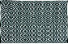 Unbekannt Home Basics Englischem hm14m Teppich für Haus, Baumwolle, Grün, 120x 180cm