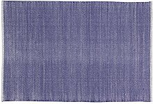 Unbekannt Home Basics hm1m Teppich für Haus, Baumwolle, Marineblau, 120x 180cm