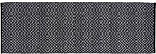 Unbekannt Home Basics hm11p Teppich für Haus, Baumwolle, Schwarz, 70x 200cm