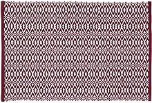 Unbekannt Home Basics hm17a Teppich für Haus, Baumwolle, bordeaux, 60x 90cm