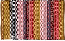 Unbekannt Home Basics hm5a Teppich für Haus, Baumwolle, mehrfarbig, 60x 90cm