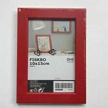 Unbekannt IKEA Fiskbo Bilderrahmen Rot 10x15cm 4