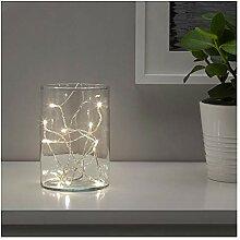 Solvinden Deko Lampions für Lichterkette Ikea LED weiß 12er Pack Garten Deko