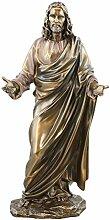 Unbekannt Jesus Christus Segen Statue Real Bronze