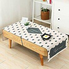 Unbekannt Kaffee Tischdecke Tischdecke/Baumwolle/klein frisch/geeignet für rechteckige Wohnzimmer Kaffee Tischdecke Matte/moderne minimalistische Tischdecke (Größe: 80 * 190cm) von SHOME