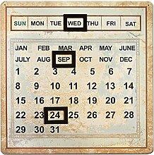Unbekannt Kalender, Metall, Flaschenverschluss,