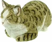 Unbekannt Katze schlafend 34 cm Figur Garten