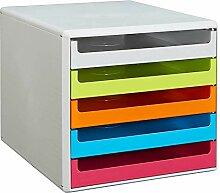 Unbekannt Keine Marke Schubladenbox Bright-Colours