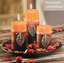 Unbekannt Kerzenset Herbstlaub Afrika Design 3