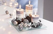 Unbekannt Kerzenset Weihnachten 3er Kerzen Set