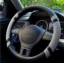 Unbekannt Kevin 38 cm/15 zoll Auto Lenkradabdeckung Sommer Helfer Lenkung Abdeckungen Auto-Styling Accessorie Ice Silk, d