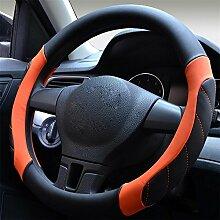 Unbekannt Kevin Auto-Lenkrad-Abdeckung kann das ganze Jahr Sport-Auto-Auto-Lenkrad Durchmesser 38cm 4 Farbe verwenden, um Styling zu wählen, c