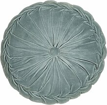 Unbekannt Kissen Kanan Samtkissen Rund Mint 40x12cm