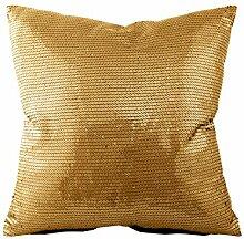 Unbekannt Kissenhülle mit Pailletten - Gold -