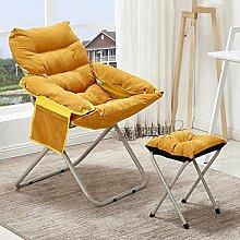 Unbekannt Kreativ Sofa Sessel,Zusammenklappbare Individuelle Casual Computer Stuhl Tatami Schlafzimmer Sessel für Wohnzimmer -H