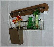 Unbekannt Küchenregal aus Metall und Holz im