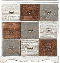 Unbekannt Landhaus Kommode mit 9 Schubladen Regal