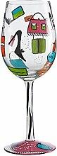Unbekannt Lolita GLS11–5530y Glas Shopaholic Too Standard Weinglas Mehrfarbig 22,5cm