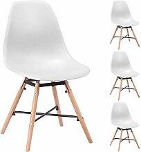 Unbekannt Malmo Stühle, skandinavisch, Weiß, 4