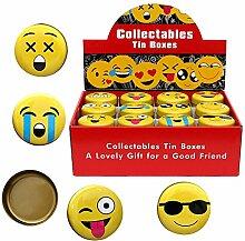 Unbekannt Metall Emoji Blechdose rund 12-Fach