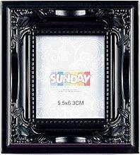 Unbekannt Mini Barock Bilderrahmen schwarz für