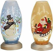 Unbekannt Moderne Glaskugel Weihnachten mit LED