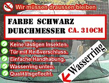 Unbekannt Moskitonetz Fliegennetz SCHWARZ 3,10cm Sonnenschirm Marktschirm Angler Ampelschirm