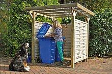 Unbekannt Mülltonnen-Box Holzunterstand
