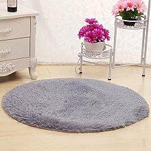 Unbekannt Nettes rundes Bett mit Teppich Teppich Fitness Yoga Wiege Computer Stuhl Lounge Wohnzimmer Schlafzimmer Teppich (Farbe, Größe optional) (farbe : # 6, größe : 100cm)