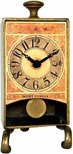 Unbekannt New Haven Messing antik Tisch Pendel Uhr