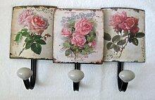 Unbekannt Nostalgie Blech Hakenleiste Rosen Antik