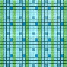 Unbekannt Papier zur Taufe 12cm X12-peaceful, 25Stück Schwimmbecken blau