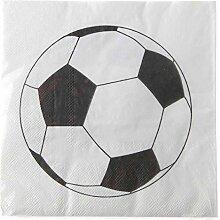 Unbekannt Party-Servietten Fußball/Papier-Servietten Fussball/Geburtstags-Deko/Kinder-Geburtstag/Geburtstags-Party/Party-Deko/Tisch-Dekoration/Mottoparty Fußball (40 Stück)