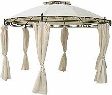 Unbekannt Pavillon rund 3,5 m beige Sonnenschutz