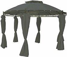 Unbekannt Pavillon rund 3,5 m grau Sonnenschutz