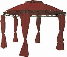 Unbekannt Pavillon rund 3,5 m rot Sonnenschutz