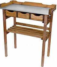 Unbekannt Pflanztisch 78x38x86cm Holz Tisch