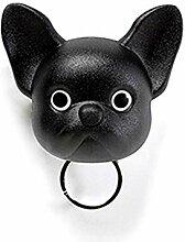 Unbekannt Qualy Frenchy Dog Schlüssel-Halter