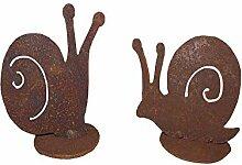Unbekannt Schnecken 2 Stück auf Platte Metall