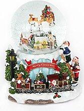 Unbekannt Schneekugel Merry Christmas, Spieluhr,