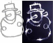 Unbekannt Schneemann beleuchtet 16weiße LEDs