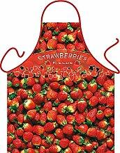 Unbekannt Set - Fun Grillschürze: Strawberries -