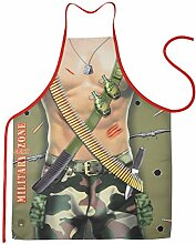 Unbekannt Set Grillschürze: Military Man