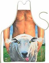 Unbekannt Set Grillschürze: Schaf Bedruckte