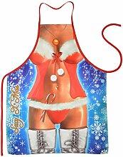Unbekannt Set Grillschürze: Weihnachtsfrau