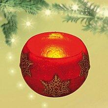 Unbekannt Sigro Lampion Kerze mit Weihnachten