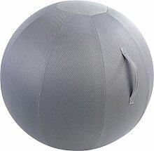 Unbekannt Sitzball mit Stoffbezug grau